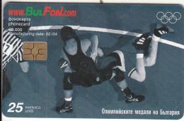 BULGARIA - Athens 2004 Olympics/Wrestling, Bulfon Telecard 25 Units, Tirage 60000, 02/04, Used - Sport