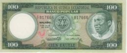 (B0396) EQUATORIAL GUINEA, 1975. 100 Ekuele. P-6. UNC - Equatorial Guinea