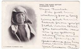 Ellensburg Washington, Nancy Oldest Settler, Native American(?), C1900s Vintage Postcard - United States