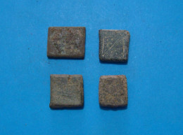 4 SMALL ROMAN EXAGIUM SOLIDI, II - III C.A.D. - Archéologie