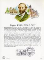 """"""" EUGENE VIOLLET-LE-DUC / NOTRE DAME DE PARIS """" Sur Encart Philatélique 1er Jour De 1980  N° YT 2095. - Documents Of Postal Services"""