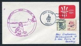 1980 USA Antarctic Antarctica Polar  Operation Deep Freeze USCGC GLACIER Ship Cover - Forschungsprogramme
