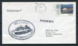 1992 Liberia San Juan Porto Rico MS ZENITH Paquebot Ship Cover - Liberia