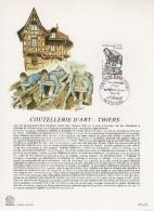 """Encart Philatélique 1er Jour De 1987 """" COUTELLERIE D'ART - THIERS """" N° YT 2467. - Documents De La Poste"""