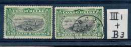 """N° 54-III1+B3, 5c Vert, Mols Bilingue, 2 Nuances Dont TB Obl. """"""""Boma"""""""" - 1894-1923 Mols: Usati"""