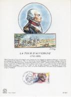 """FRANCE 1991 : Encart Philatélique 1er Jour """" LA TOUR D´AUVERGNE """" N° YT 2700."""