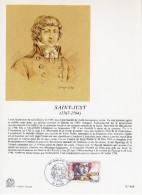 """FRANCE 1991 : Encart Philatélique 1er Jour """" SAINT-JUST """" N° YT 2703."""