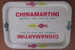 VASSOIO VINTAGE CHINAMARTINI 26X36 CM IN LATTA   ORIGINALE NON E' UNA RIPRODUZIONE - Altre Collezioni