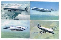 4  Cpa - Avions  AIR  FRANCE  -VICKERS - BREGUET - LOCKHEED - DE HAVILLAND - 2723 - 1946-....: Moderne
