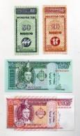 Mongolia - Lotto 4 Banconote  - 10 -20 - 20 - 50 - (FDC151) - Mongolia