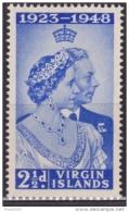 British Virgin Islands 1949, Silver Wedding, Scott# 90, MLH - British Virgin Islands