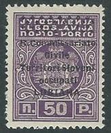 1941 LUBIANA SEGNATASSE 50 CENT SASSONE N. 6 MH * - M60-3 - Lubiana