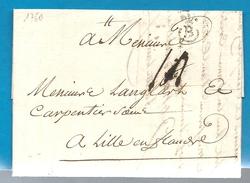 Gironde - Bordeaux Pour Lille (Nord). LAC De 1760 Marque B Couronnée. - 1701-1800: Précurseurs XVIII