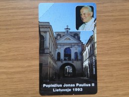 Lithauen - Very Early Issue - Pope Joh. Paulus II 25 Units - Mint Condition -  Material Paper Made - Litauen