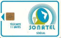 CARTE-PUCE-SENEGAL-11U-GEM B-SONATEL-UTILISE-TBE