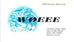 Amateur Radio QSL - W0EEE - Univ Of MO Radio Club -USA- 1974 - 2 Scans - Radio Amateur