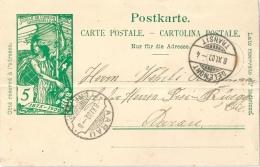 PK 31 UPU  Delémont - Aarau  (Rasierklingenstempel)          1900 - Entiers Postaux