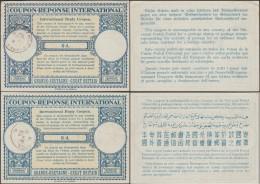 Grande-Bretagne 1947 Et 1950. Deux Coupons-réponse, Respectivement à 6 Et 8 D. Modification Des Langues - Languages