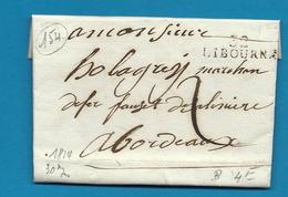 Gironde - Libourne Pour Holagray à Bordeaux. LAC De 1814 - Marcophilie (Lettres)