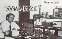 Amateur Radio QSL - WA6KZI - Altadena, CA -USA- 1974 - 2 Scans - Radio Amateur