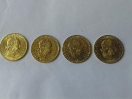 AUSTRIA GOLD LOT OF 4 COINS OF 1 DUCAT 1915 - Austria
