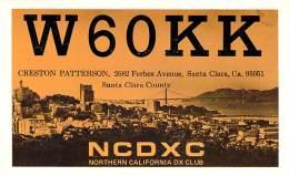 Amateur Radio QSL - W6OKK - Santa Clara, CA -USA- 1974 - 2 Scans - Radio Amateur