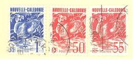 Nouvelle Caledonie:Yvert  N° 588+602+638°; Cagou - Neukaledonien