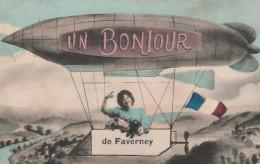 FAVERNEY     HAUTE SAONE 70 CPA   UN BONJOUR DE FAVERNEY - Other Municipalities