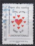 = Personnalisé Oblitéré Cadre Phil@poste Lettre Prioritaire 20g N°13 Don Du Sang, Donner Son Sang, Donner La Vie - France