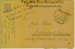 FELDPOSTKORRESPONDENZKARTE,K.u.K.-FELDPOST 437,VGT.MA.FOR.GRUPPE VII-ZENSURIERT,St. Michael Eppan,BOLZANO - 1914-18