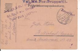 FELDPOSTKORRESPONDENZKARTE,K.u.K.-FELDPOST 437,VGT.MA.FOR.GRUPPE VII-ZENSURIERT-EPPAN-ST.MICHAEL - Besetzungen 1914-18