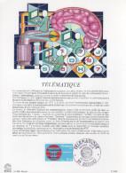 """Encart Philatélique 1er Jour De 1981 """" TELEMATIQUE """" N° YT 2130. - Documents De La Poste"""