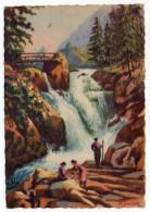 CAUTERETS--1948--illustrateur M.Vivier--La Cascade De Cerizet (animée),cpsm 15 X 10 N° ??? éd CAP - Cauterets