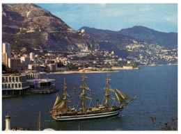 (ORL 440) Monaco Port And Sailing Ship - Sailing Vessels