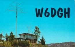Amateur Radio QSL - W6DGH - Topanga, CA -USA- 1974 - 2 Scans - Radio Amateur