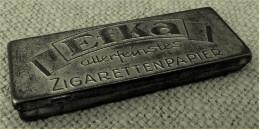 Altes EFKA Zigarettenpapier Etui  -  1940er / 1950er Jahre  -  Aus Metall  -  Ca. 7,5 X 2,8 Cm Größe - Sonstige