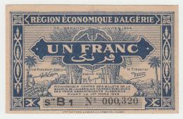 ALGERIA 1 FRANC 1944 / 1949 VF++ Pick 98a 98 A - Algeria
