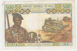 Mali 500 Francs 1973 - 1984 VF+ Pick 12b  12 B - Mali
