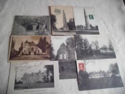LOT DE  8 CARTES DE MORTCERF (77)..OBELISQUE (2).EGLISE (1) CHATEAU DE BECCOISEAU (5) - Cartoline