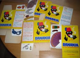 LOT 5 PUB BANANIA POINTS POUPEES FRANCE EUROPE EMBALLAGES CARTON. Corse Roussillon Marchoise Kronau Italie - Advertising