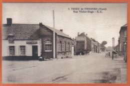 Carte Postale 59. Trieu-de-Fresnes  Rue Victor Hugo    Trés  Beau Plan - Autres Communes