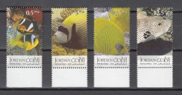 Jordan 2005,4V,set,fish,vissen,fische,poissons,peche,peces,pesce,MNH/Postfris(A2620) - Poissons