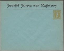 Suisse 1909. Entier Postal Timbré Sur Commande.  Société Suisse Des Cafetiers - Boissons