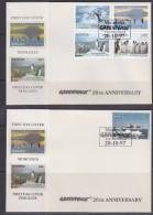 Mongolia 1997 Greenpeace /  Penguins / Ship  4v + 1v From M/s 2 FDC (GPFDC112) - Mongolië