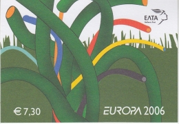 Europa Cept  2006 Greece Booklet ** Mnh (31539) @ Face Value - 2006