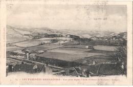 -09- Les Pyrénées Ariegeoises -* Vue Prise Depuis L'Asile D'Alienes De St Lizier - (petites Salissires Face) Timbrée - Autres Communes