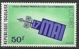 "Togo YT 988 "" Télécommunications "" 1980 Neuf** - Togo (1960-...)"