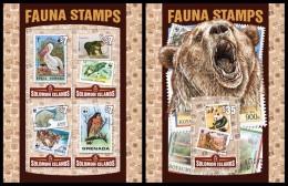 SOLOMON Isl. 2016 - WWF Stamps On Stamps. M/S + S/S - Unused Stamps