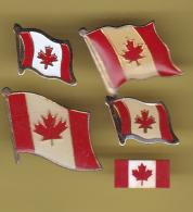50714- Lot De 5 Pin's-Drapeaux.Canada... - Villes
