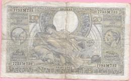 100 Francs 20 Belgas SONTAG-GOFFIN 10.10.41 - [ 2] 1831-... : Royaume De Belgique